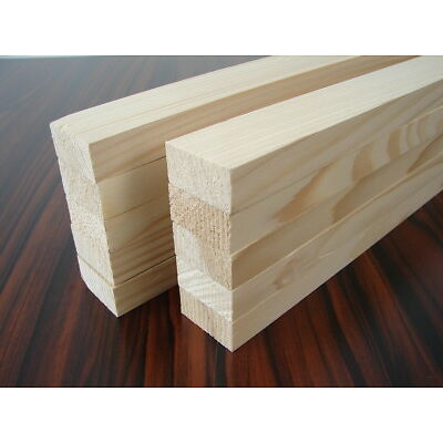 10 Rechteckleisten 905x40x20mm Kiefer/Fichte Holzleisten Bastelleisten Leisten