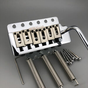 Wilkinson-Chrome-Finish-Zinc-Alloy-Saddle-Tremolo-Electric-Guitar-6-Screw-Bridge
