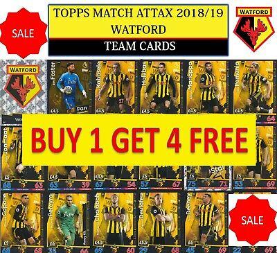 Match Attax 18//19 Hughes Watford Base Carte No 318