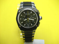 BULOVA ACCUTRON CORVARA 65B123 SWISS CHRONOGRAPH BLACK ION S/S MEN'S WATCH