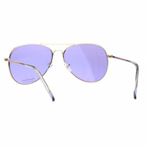 Gold Aviator Sunglasses Classic Thin Light Metal Frame Color Lens UV 400