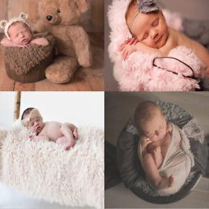 Baby Photo Props Backdrop Newborn Photography Quilt Mat Blanket Plush Rug CB