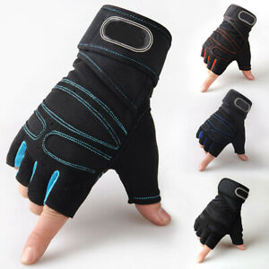 Men-Women-Weight-Lifting-Gloves-Bodybuilding-Fitness-Wrist-Wrap-Gym-Training-AU