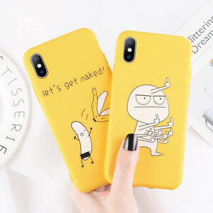 Soft-TPU-Funny-Cute-Pattern-Thin-Phone-Case-Cover-for-iPhone-X-XS-XR-8-6s-7-Plus