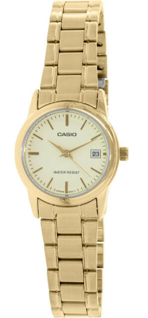 Casio Women's Analog Quartz Gold Tone Stainless Steel Watch LTPV002G-9A