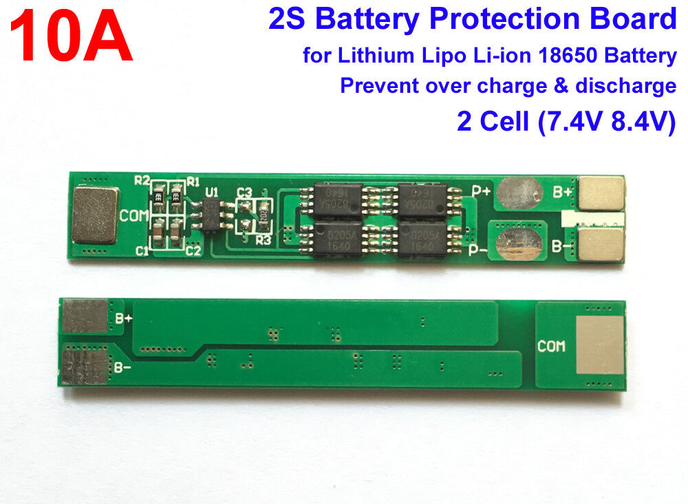 10A PCB 2S 7.4V 8.4V 10A(max) Protection Board For 18650 Lithium Battery