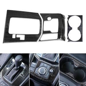 Interior-Gear-Shift-Rahmenabdeckung-Getraenkehalt-Armaturenbrett-Trim-For-Mazda