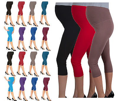 SchöN New Cropped Comfortable Maternity Cotton Leggings 3/4 Length Pregnancy- Mtr3/4 Weich Und Leicht