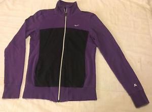 Womens Clean Purple Black M Medium Nike Full Zip Sweatshirt Track ... fad5dae7b