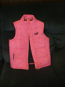 035c669ea130 Image is loading Girls-Puma-Sport-Lifestyle-Puffy-Vest-Pink-Size-