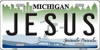 Jesus Michigan Metal Novelty License Plate