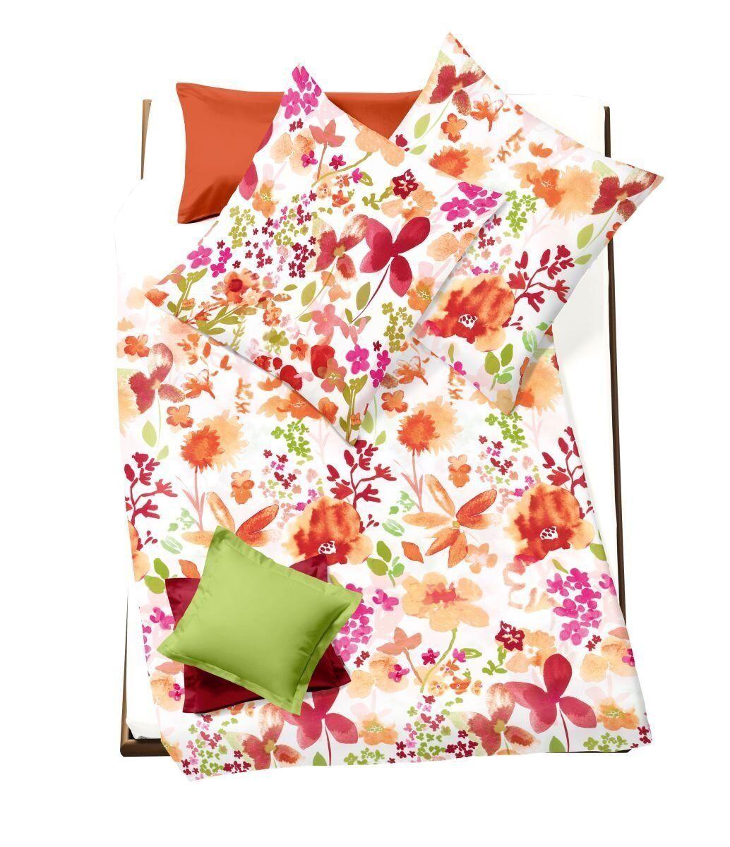 Fleuresse Bettwäsche Mako Satin Modern Garden   80 x 80 135 x 200 cm neu