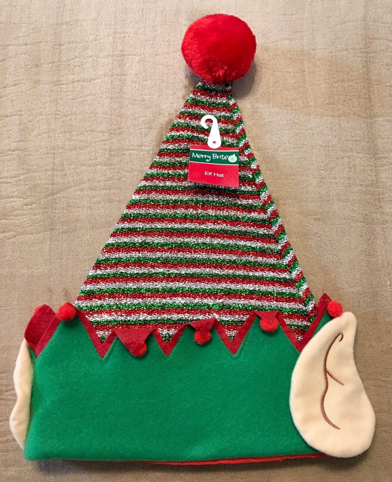 Santa Helper Elf Headband with Ears OSFM NWT
