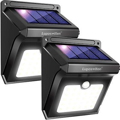 196 LED Solarleuchte Außenlampe Bewegungsmelder Solarstrahler mit Solarpanel