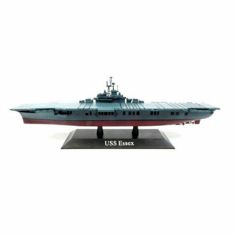 USS Essex Barco de Guerra 1:1250 Portaaviones Diecast Agostini *12