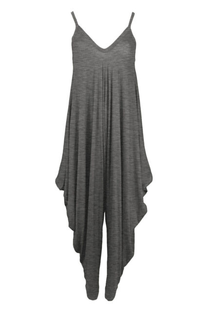 Ladies Womens Lagenlook Cami Strappy Baggy Harem Jumpsuit Playsuit Dress top8 26