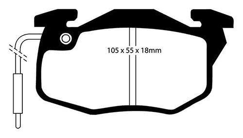 EBC YellowStuff Front Brake Pads for Renault Clio Mk1 1.2 90-98 DP4545R