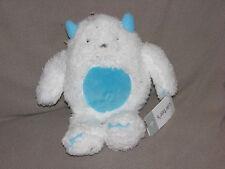 Carters White Aqua Blue Abominable Snowman Monster Yeti Plush Stuffed Toy 66939
