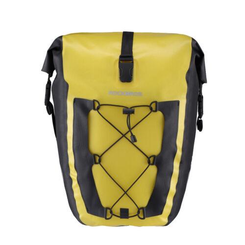 RockBros Bike Completely Waterproof Pannier Bag Bicycle Rear Seat Carrier Yellow