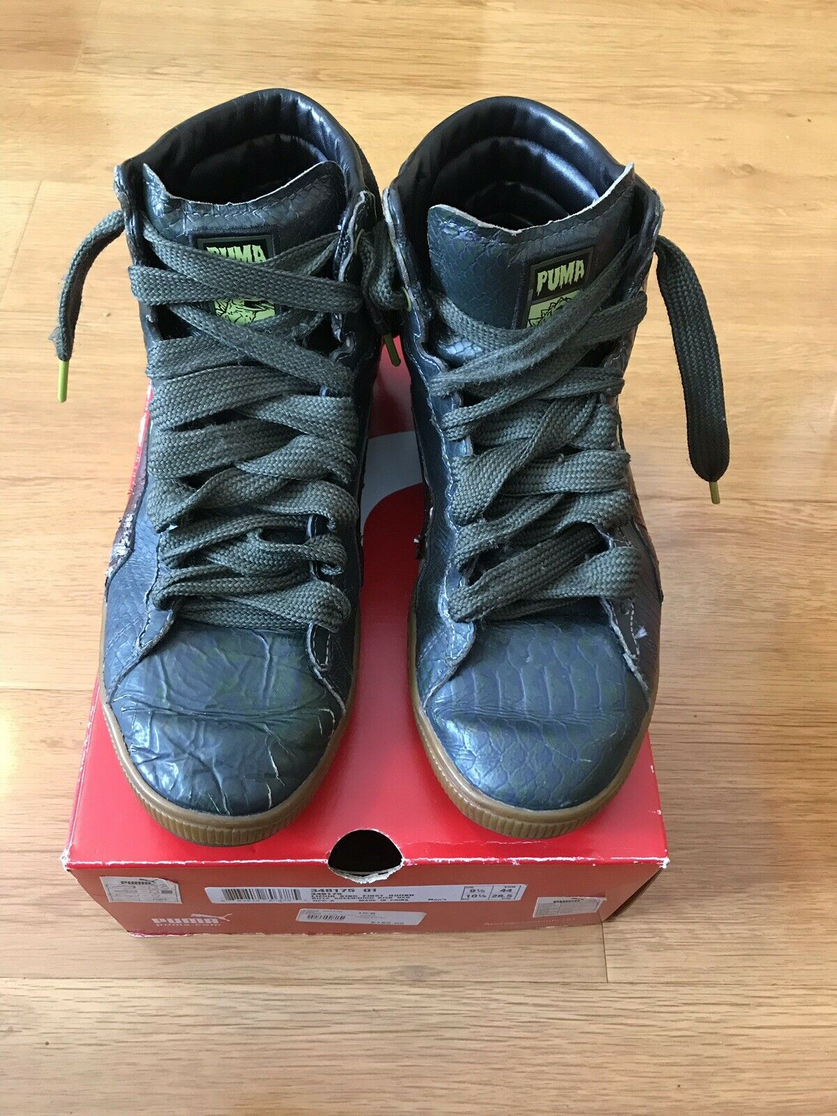 RARE Sz Sz Sz 10.5 PUMA Lizoid King First Round Rifle verde High Risk rosso UNDEFEATED 0a1fa0