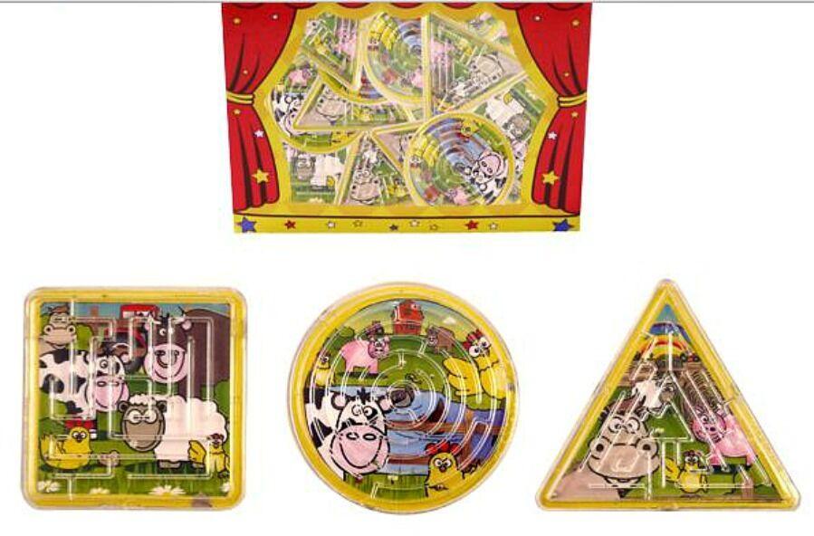 12 Fattoria Animale Maze Puzzle Set Festa Borse Riempitivi Bambini Compleanno Giocattolo loota