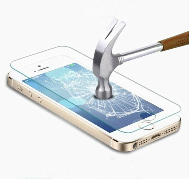 Real Premium Tempered Glass Film Screen Protector for Apple iPhone 5/5S 4/4S