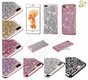newest 7beee a39da For Apple iPhone 8 7 Plus 7 Bling Hybrid Glitter TPU Protective Hard ...