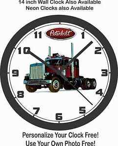 SEMI SHIP PETERBILT FREE CLOCK 1972 WALL TRUCK USA zgZqw05P1