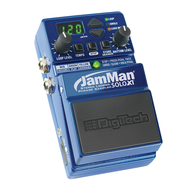 Digitech JamMan Solo XT Stereo Looper Phrase Sampler Pedal Jam Man SoloXT
