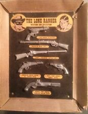 VERY HARD TO FIND - THE LONE RANGER - MINIATURE GUN DISPLAY- AC TOY CO.- 1950'S