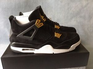 best service e0a3e 884d2 Image is loading Nike-Air-Jordan-4-Retro-Royalty-Black-Metallic-