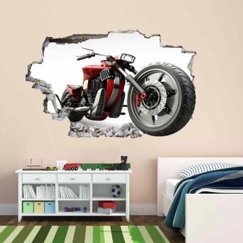 Motorbike Wall Sticker Mural Decal Kids Bedroom Home Office Nursery Decor DC38