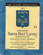 GRAVES GCC VIEILLE ETIQUETTE CHATEAU SMITH HAUT LAFITTE 1971  §12/03/17§