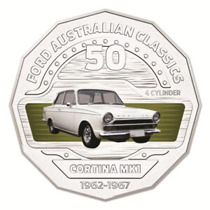 Australia-2017-Ford-Classics-1965-Cortina-MKI-GT500-50c-Cents-UNC-Coin-Carded