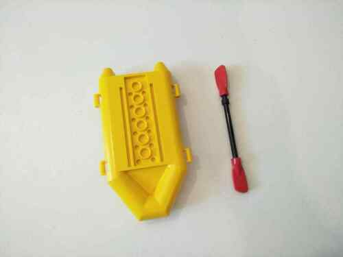 BN Lego boat yellow floaty life boat rescue coastguard coast beach /& ore