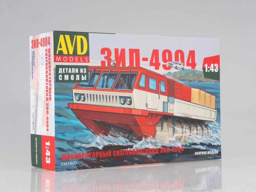 ZIL 4904 ATV anfibio Kit desarmado este cuadro modelos por SSM 1 43
