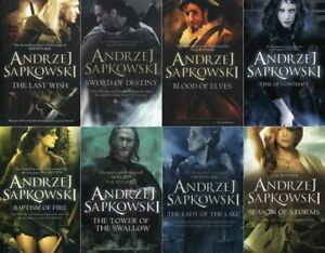 The-Witcher-Series-Andrzej-Sapkowski-8-Books-Collection-Set-Collector-039-s-Covers