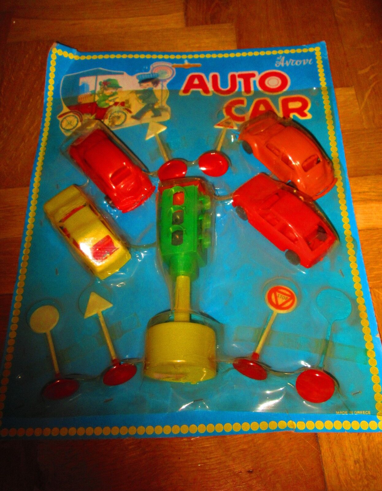 UNIQUE VINTAGE GREEK PLASTIC AUTO CAR SET - VW & ALFA ROMEO - ANTONI 70s MOC 2