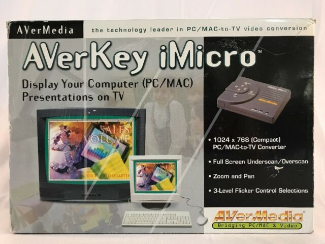 AVerMedia AVerKey iMicro Pc/mac to TV Video Display Conversion for