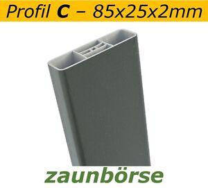 Musterstueck-Zaunlatte-C-85x25x2mm-034-tannengruen-034-Profiware-Gartenzaun-Staketen
