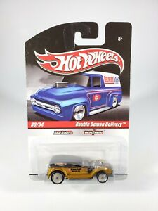 HOT-WHEELS-SLICK-RIDES-DOUBLE-DEMON-DELIVERY-WITH-REAL-RIDERS-NEW-1-64-DIECAST