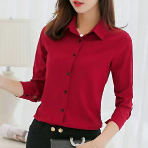 c4b5812e0f Image is loading Blusas-Camisas-Elegantes-Casuales-Blusa-Para-Mujer-A-