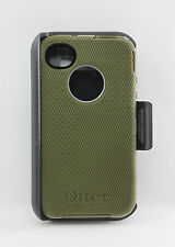 OtterBox Defender Hard Case w/Holster Belt Clip for iPhone 4/4S Olive Green USED