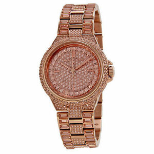 250e43c1d2d71 Michael Kors Camile Rose Crystal Pave Rose Gold-tone MK5948 Wrist Watch for  Women