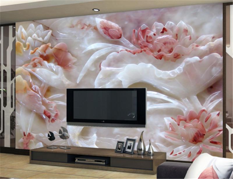3D ROT Jade Carp 80 Wallpaper Mural Paper Wall Print Wallpaper Murals UK Carly