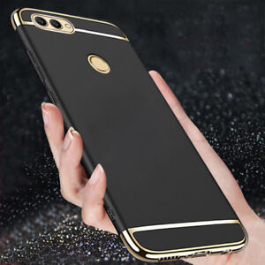 check out 6e323 f356f Details about For Huawei P Smart Luxury Shockproof Electroplate 3 In 1 Hard  Back Case Cover
