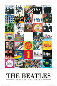 BEATLES-THROUGH-THE-YEARS-POSTER-24x36-MUSIC-BAND-ALBUM-COLLAGE-50483