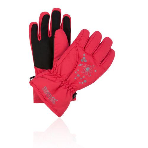 Regatta Boys Girls Arlie II Junior Waterproof Glove Red Sports Outdoors