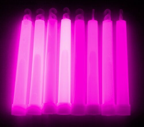 "Festival Party Rave Disco Bright Colours 6/"" Premium Glowsticks 1.5cm thick"