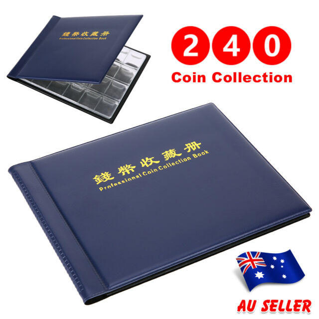 240 Holders Coin Album Collect Collecting Money Penny Pockets Collection Storage
